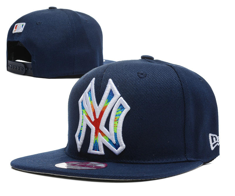 New York Yankees Blue Snapback Hat DF