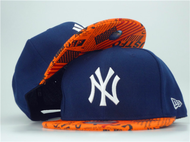 New York Yankees Blue Snapback Hat ZY 1