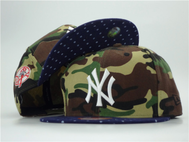 New York Yankees Camo Snapback Hat ZY
