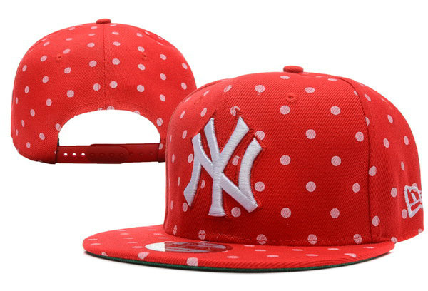 New York Yankees Red Snapback Hat XDF 0512
