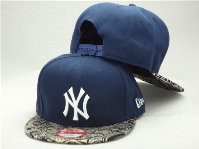 New York Yankees Blue Snapback Hat ZY