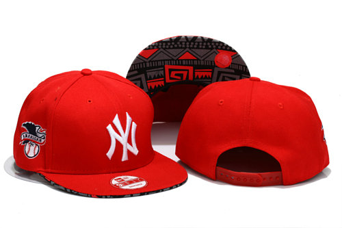 New York Yankees Red Snapback Hat YS 1