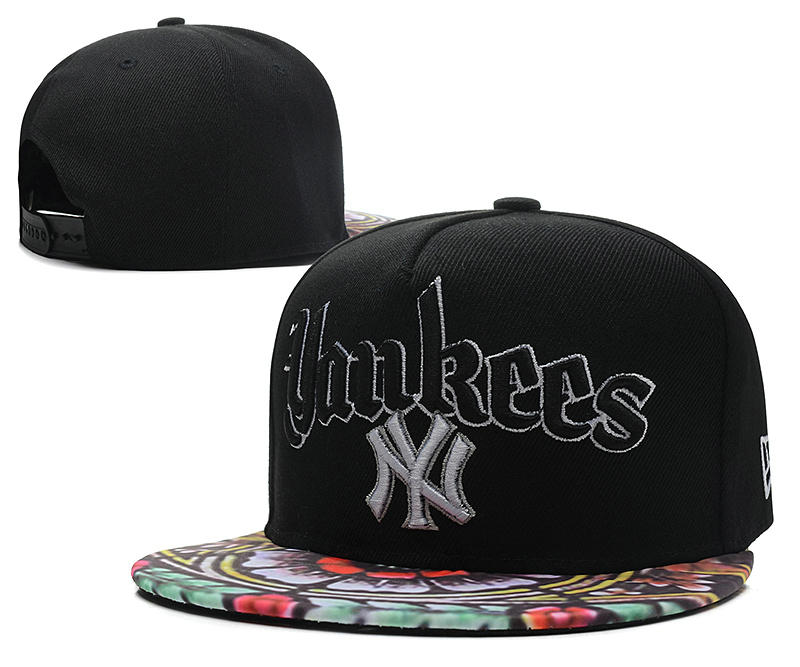 New York Yankees Black Snapback Hat DF 0613