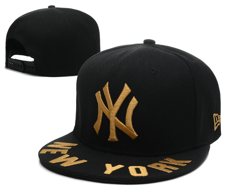 New York Yankees Black Snapback Hat SD 0613