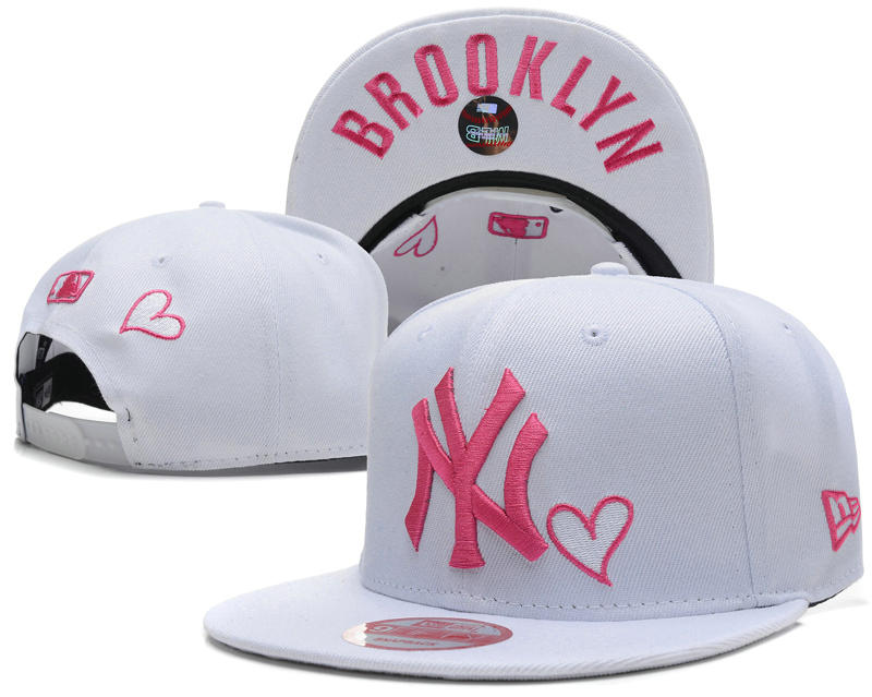 New York Yankees White Snapback Hat SD 0613