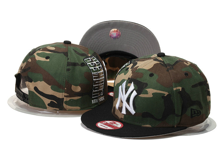 New York Yankees Camo Snapback Hat GS 0620