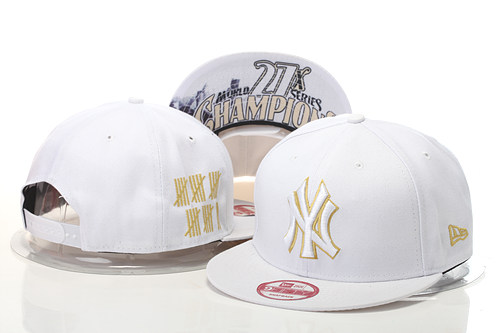 New York Yankees Snapback White Hat GS 0620