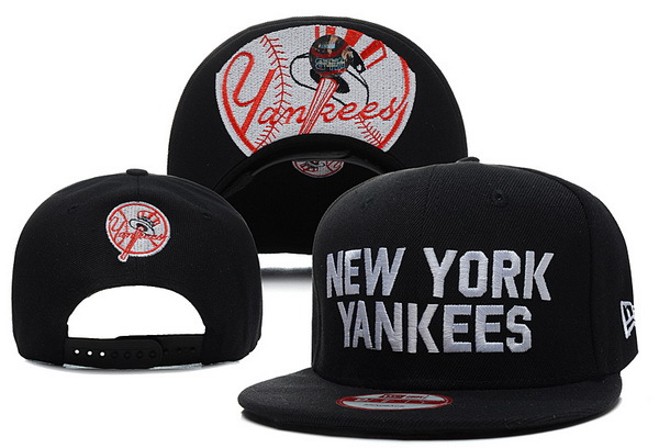 New York Yankees Black Snapback Hat XDF