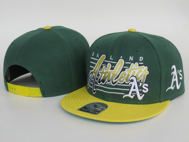 Oakland Athletics Green Snapback Hat LS