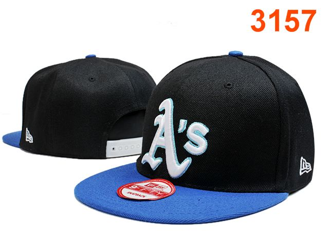 Oakland Athletics Black Snapback Hat PT 0701