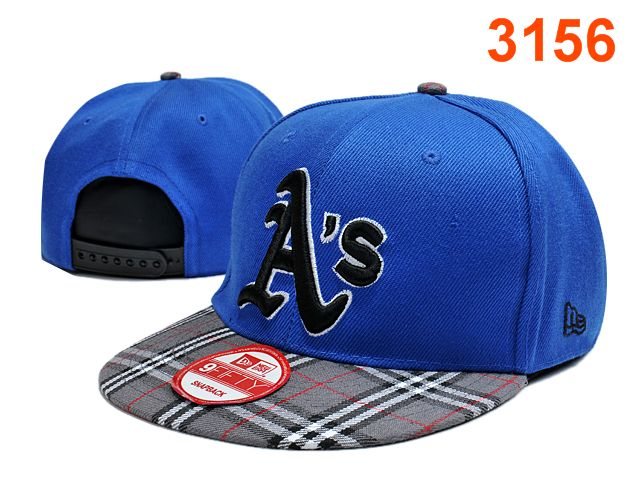 Oakland Athletics Blue Snapback Hat PT 0701
