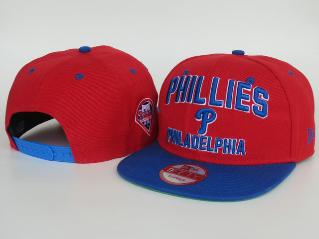 Philadelphia Phillies Red Snapback Hat LS