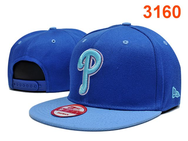 Philadelphia Phillies Blue Snapback Hat PT 0701