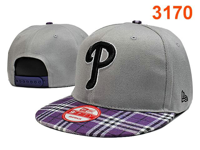 Philadelphia Phillies Grey Snapback Hat PT 0701