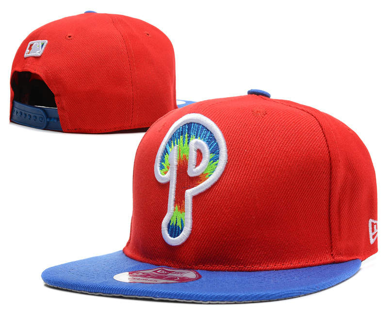 Philadelphia Phillies Red Snapback Hat DF