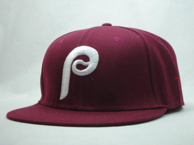 Philadelphia Phillies Red Snapback Hat SF 1