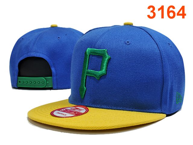 Pittsburgh Pirates Blue Snapback Hat PT 0701
