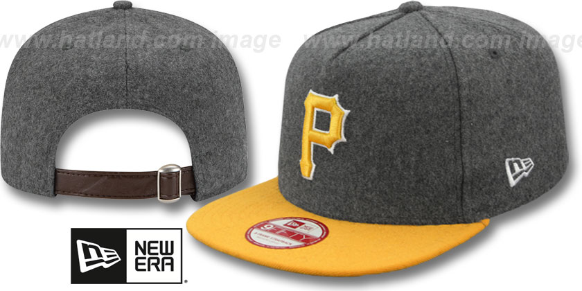 Pittsburgh Pirates-Melton Snapback Hat SF 12