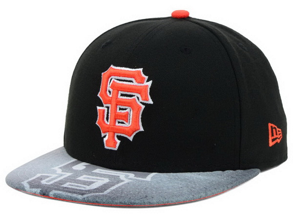 San Francisco Giants Black Snapback Hat XDF 0701