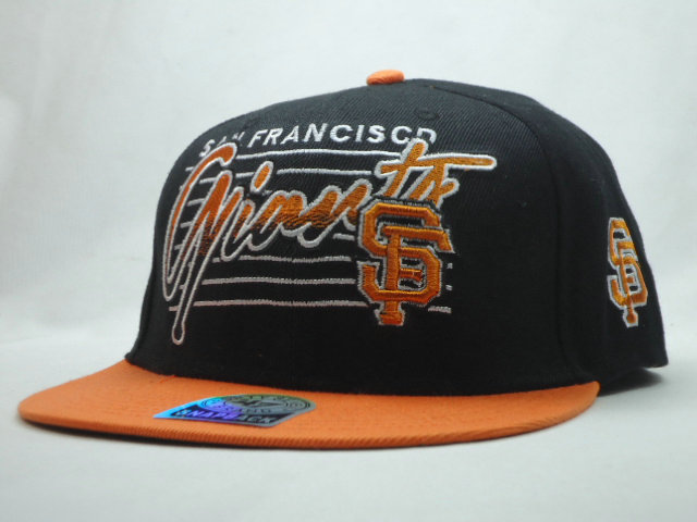 San Francisco Giants Black Snapback Hat SF