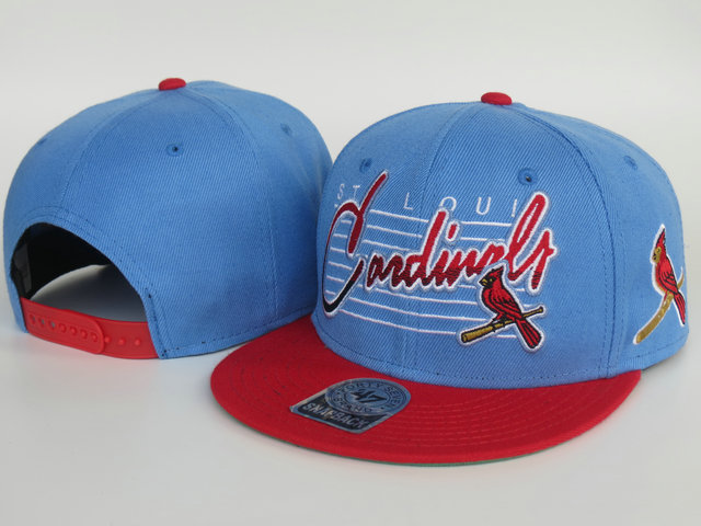 St.Louis Cardinals Blue Snapback Hat LS
