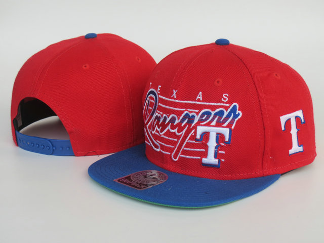 Texas Rangers Red Snapback Hat LS