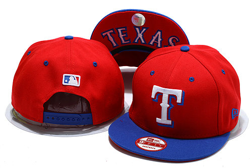 Texas Rangers Red Snapback Hat YS 0528