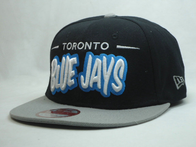 Toronto Blue Jays Black Snapback Hat SF