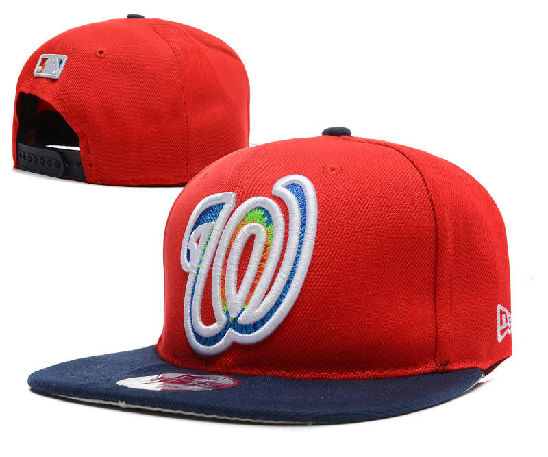 Washington Nationals Red Snapback Hat DF