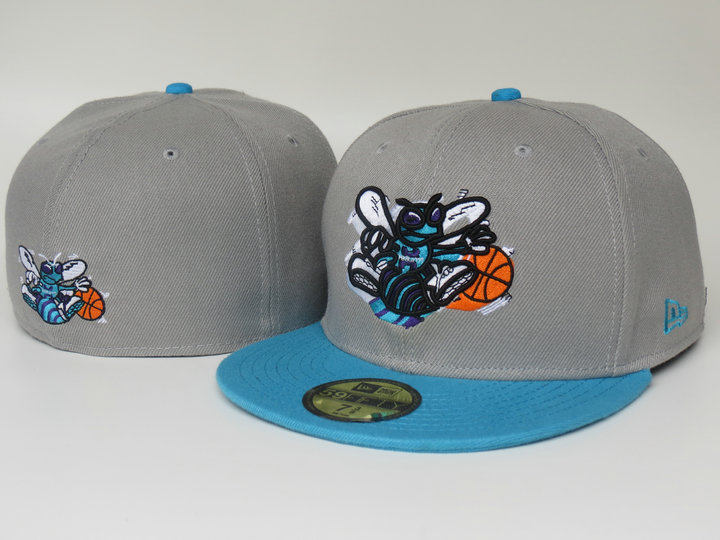 New Orleans Hornets Grey Fitted Hat LS
