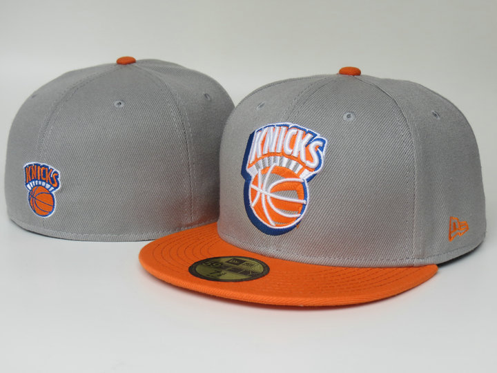 New York Knicks Grey Fitted Hat LS