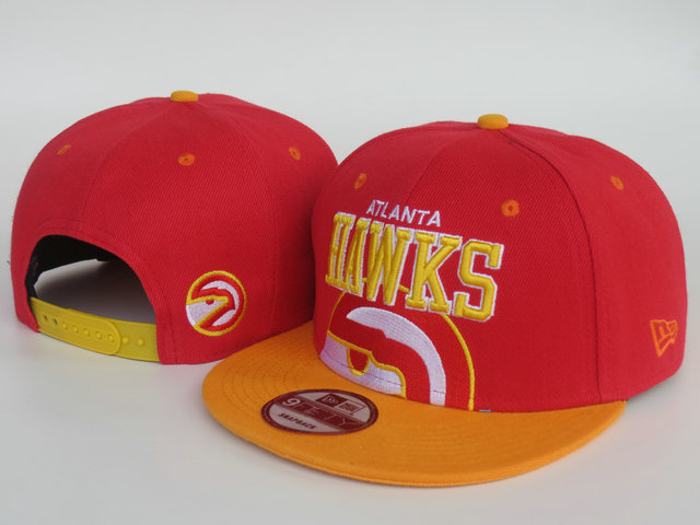 Atlanta Hawks Red Snapback Hat LS