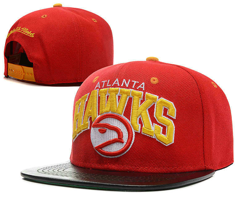 Atlanta Hawks Red Snapback Hat SD