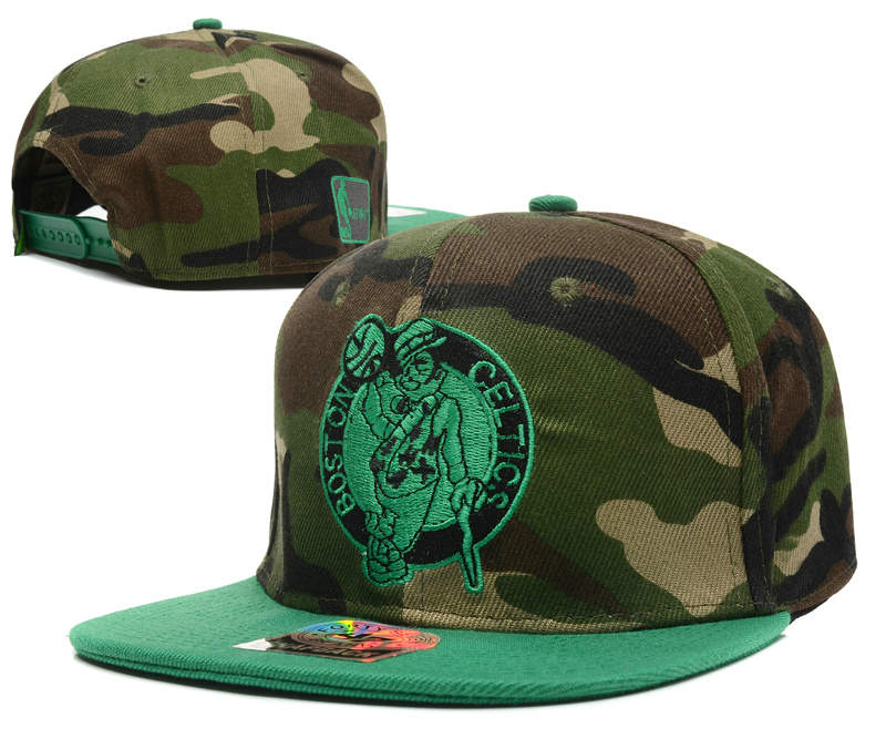Boston Celtics Camo Snapback Hat DF