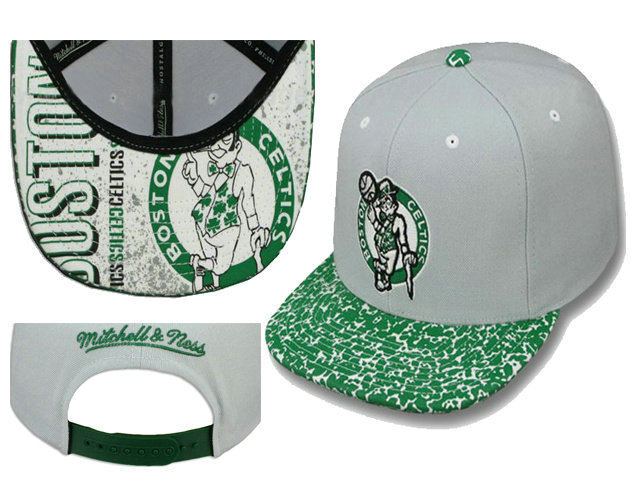Boston Celtics Grey Snapback Hat LS