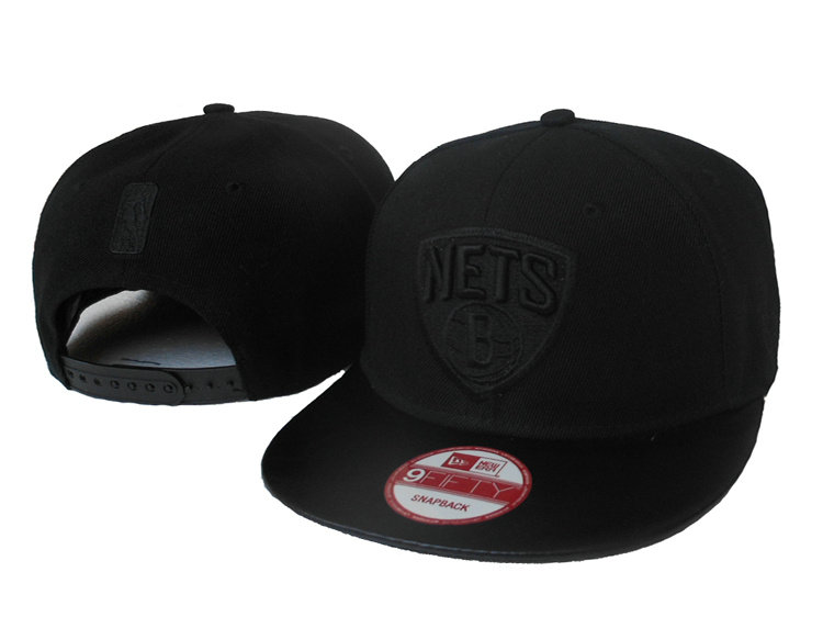 Brooklyn Nets Black Snapback Hat SJ
