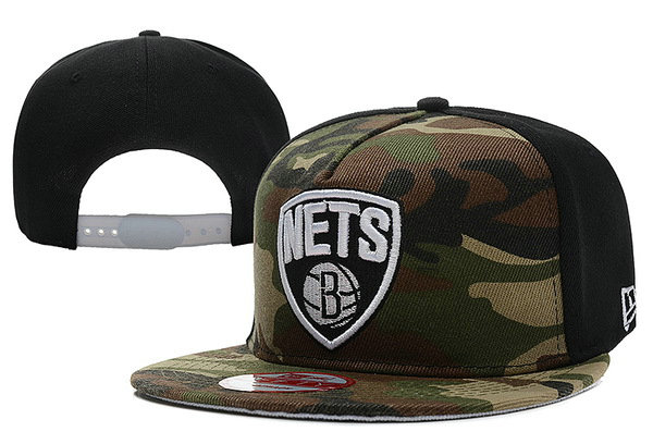 Brooklyn Nets Camo Snapback Hat XDF
