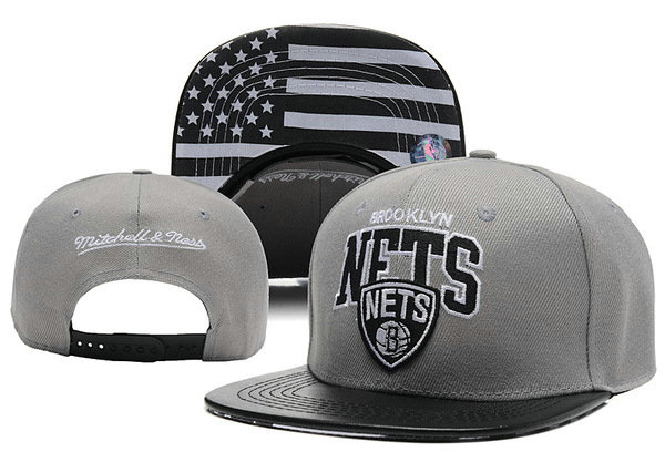 Brooklyn Nets Grey Snapback Hat XDF 0613