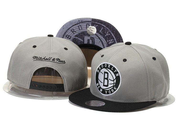 Brooklyn Nets Snapback Grey Hat GS 0620
