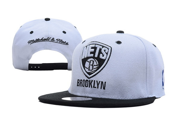 Brooklyn Nets White Snapback Hat XDF