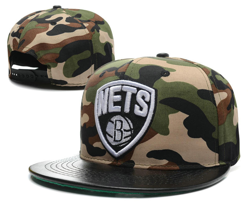 Brooklyn Nets Camo Snapback Hat SD 0512