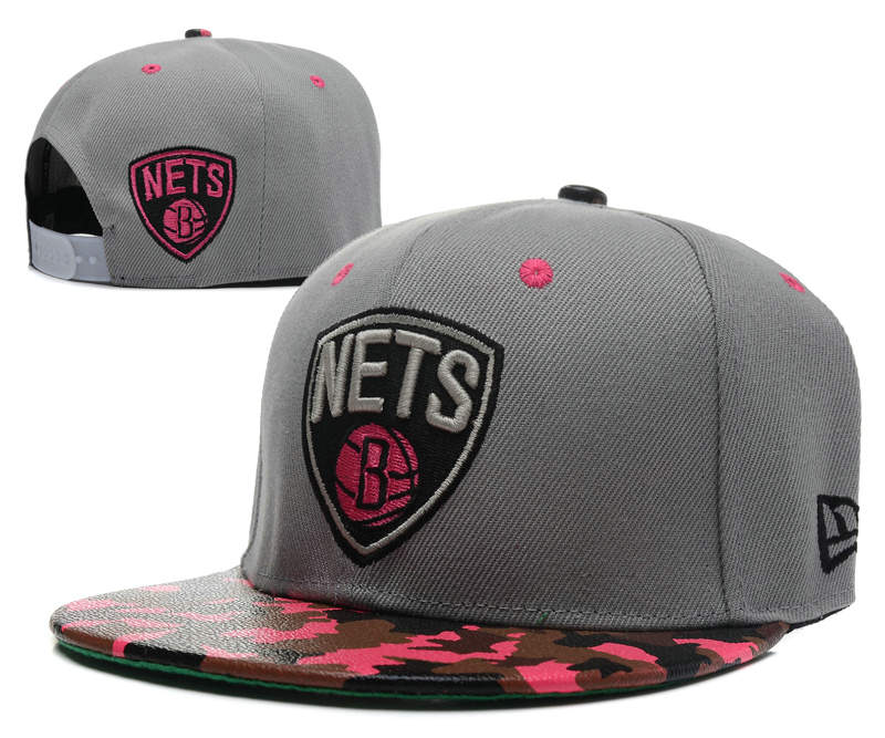 Brooklyn Nets Grey Snapback Hat SD 0512
