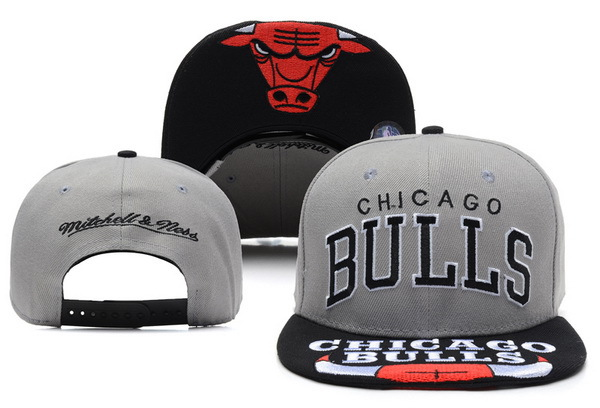 Chicago Bulls Grey Snapback Hat XDF 3