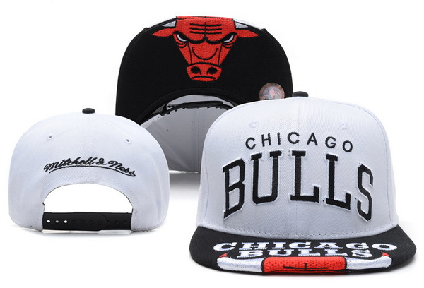 Chicago Bulls White Snapback Hat XDF 1