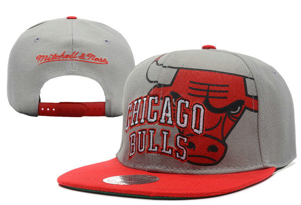 Chicago Bulls Grey Snapback Hat XDF 5