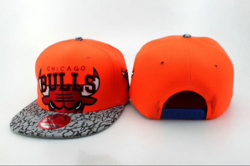 Chicago Bulls Orange Snapback Hat QH