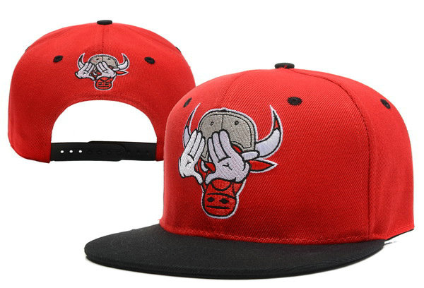 Crazy Bull Hand Snapback Red Hat XDF