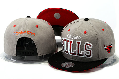 Chicago Bulls Grey Snapback Hat YS 0528