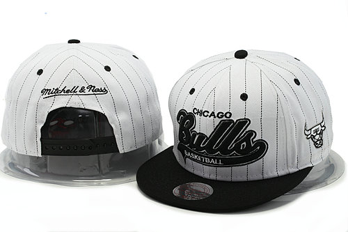 Chicago Bulls White Snapback Hat YS 1 0528