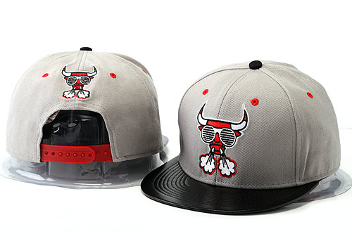 Crazy Bulls Grey Snapback Hat YS 1 0528